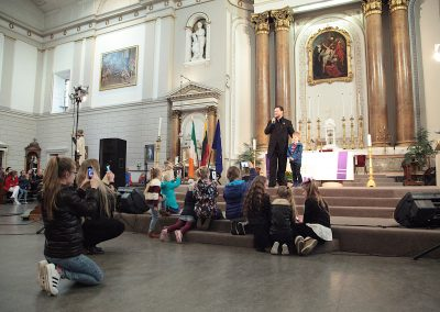 Merunas Vitulskis at St. Andrew's Church, Dublin, Ireland - Silvija Travel Tips