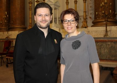 Merunas Vitulskis and Lithuanian Ambassador to Ireland Rasa Adomaitienė at St. Andrew's Church, Dublin, Ireland - Silvija Travel Tips
